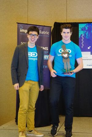 Team Luminopia cofounders Scott Xiao (left) and Dean Travers