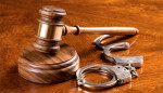 Gavel, handcuffs