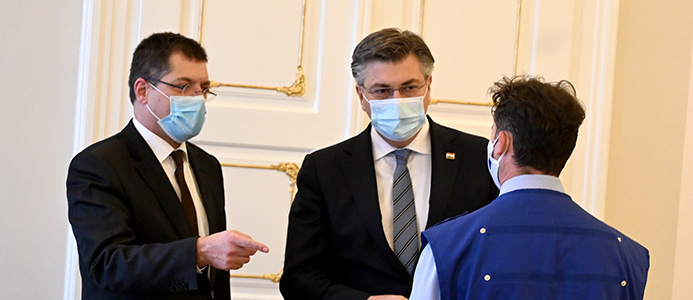 andrej plenkovic croatian prime minister in the center and janez lenarcic on the left web captis executive search management consulting leadership board services