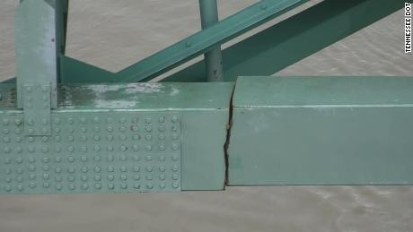 The Tennessee Department of Transportation released photos of the crack that shut down the I-40 Hernando DeSoto Bridge, which has closed it for emergency repairs.