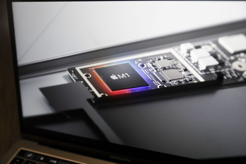 Apple designs its own processors and contracts out the manufacturing.